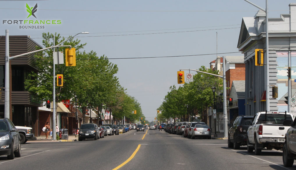 Downtown Scott Street in Fort Frances Ontario