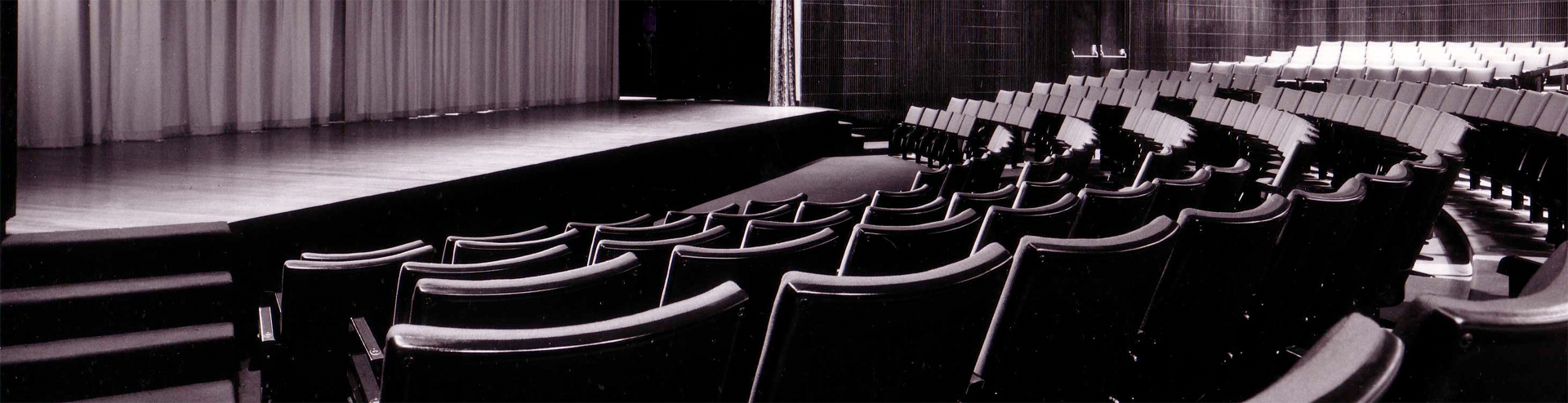 Theatre seating overlooking the stage