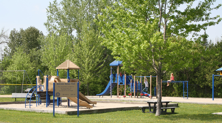 McIrvine Rotary Park in West Fort Frances