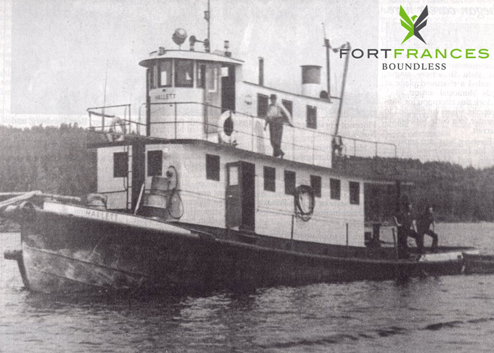 Historical photo of the Hallett in fort Frances Ontario on Rainy Lake