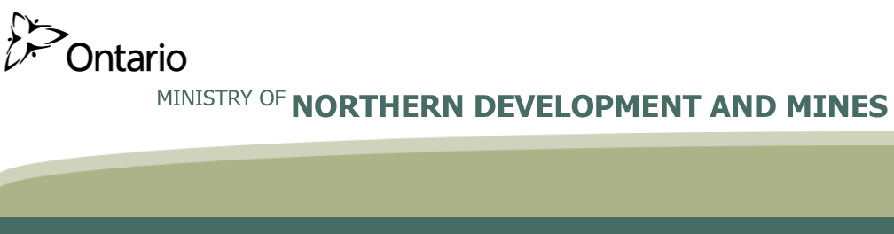 Ministry of Northern Development and Mines banner logo